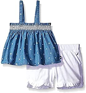 Nautica Multi Color Two Pieces Wear For Girls