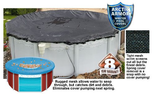 Arctic Armor Rugged Mesh Winter Cover for 18ft x 38ft Oval Above Ground - Oval Above 38' Ground