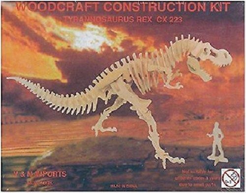 Tyrannosaurus Rex: Woodcraft Construction Wooden 3D Model Kit T-Rex Model CX223 (Tyrannosaurus Model)