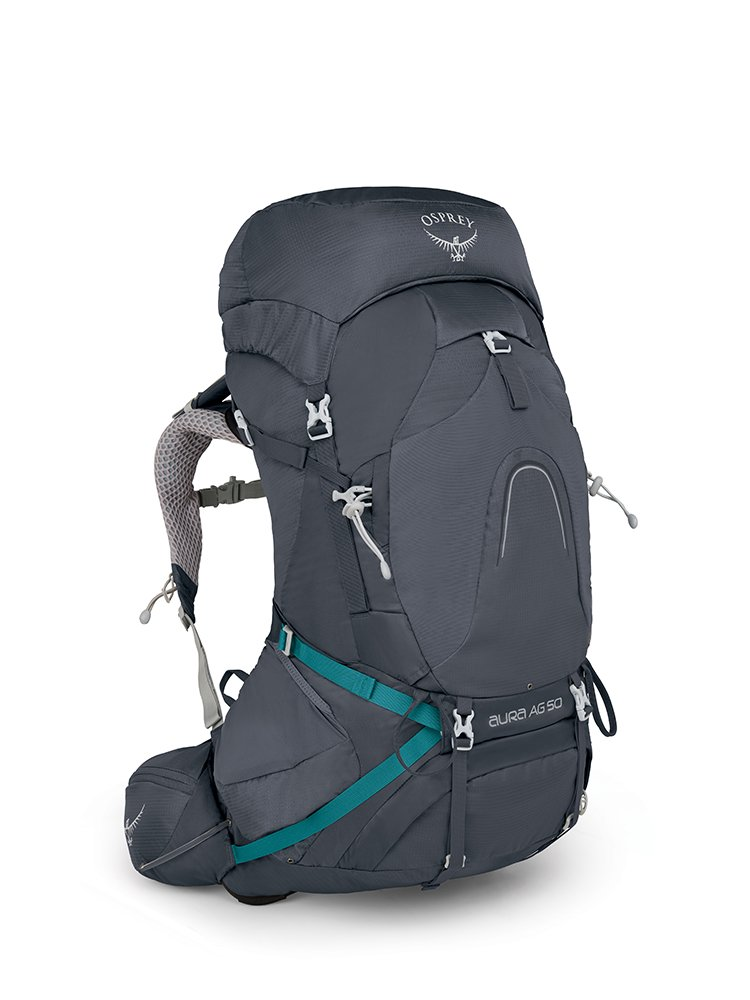 Osprey Packs Pack Aura Ag 50 Backpack, Vestal Grey, Small