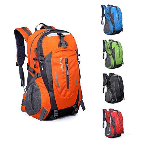 Sport Im Freien Rucksack Camping Wandern Bergsteigen Taschen 40L orange