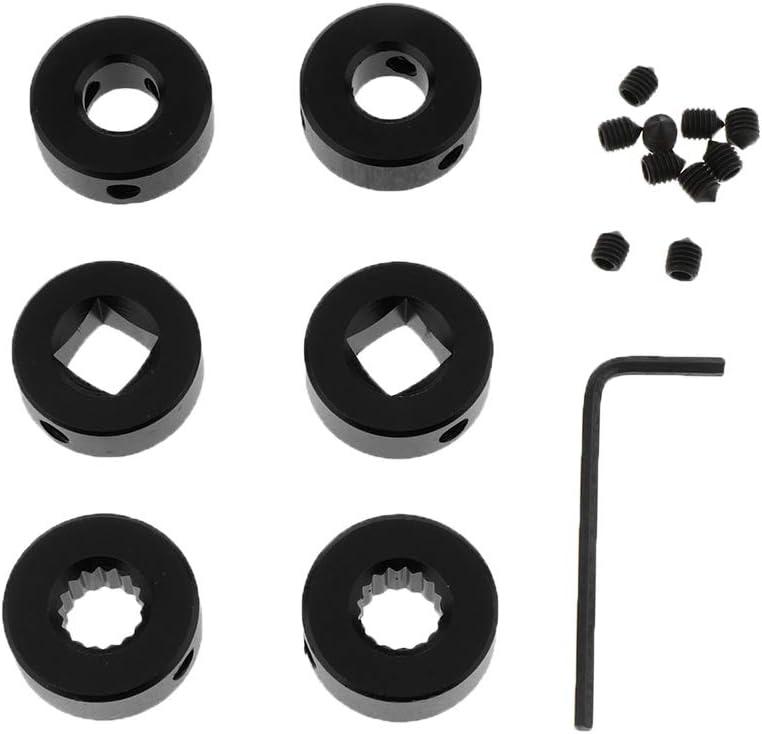 Schwarz FLAMEER Auto Fensterkurbel Kurbelgriff Fensterheberkurbel f/ür vorne oder hinten Kurbel