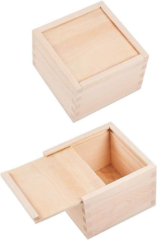 WANDIC Caja de almacenamiento, caja de almacenamiento de madera ...