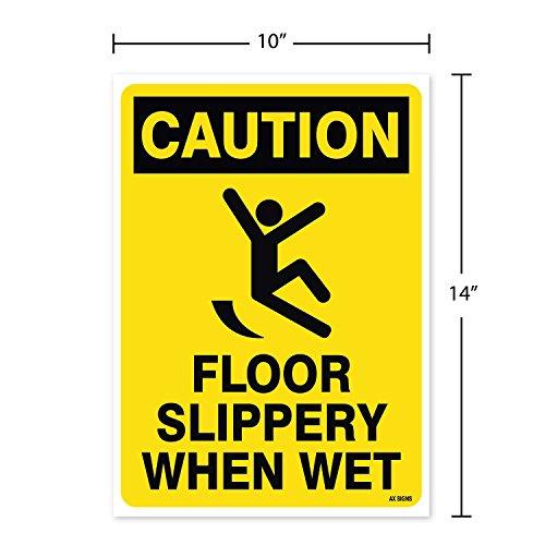 Amazon.com: Precaución: Piso deslizante cuando está mojado ...