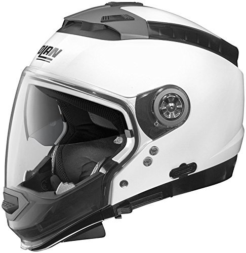 Nolan N-44 N-Com Solid Helmet, Distinct Name: Metallic White, Gender: Mens/Unisex, Helmet Category: Street, Helmet Type: Modular Helmets, Primary Color: White, Size: XS N445270330057
