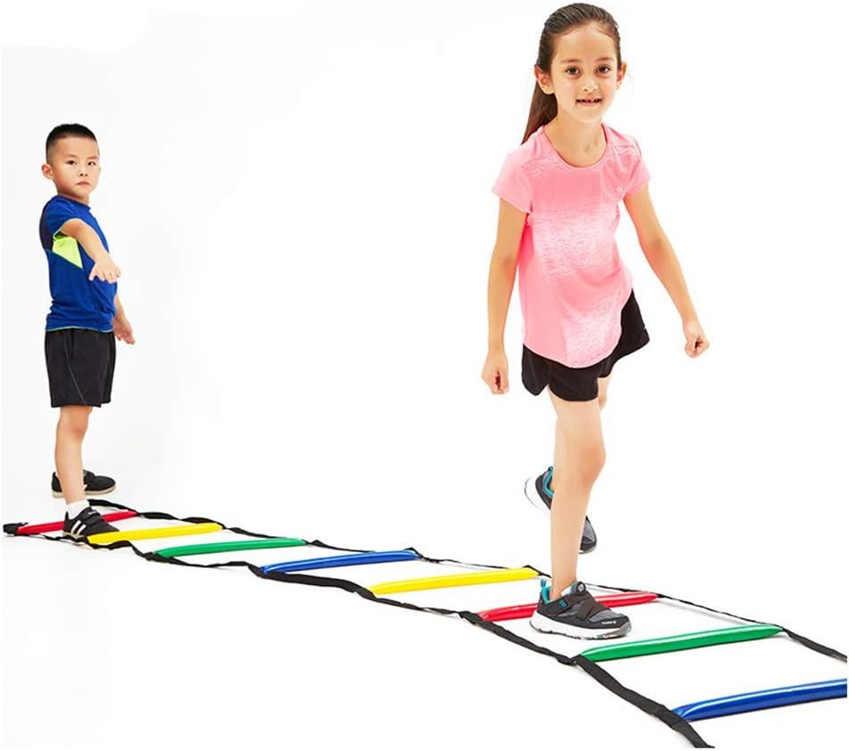 CX TECH Entrenamiento Velocidad Agilidad Escalera Obstáculos Manager Fitness/Salto para fútbol/Baloncesto Entrenamiento Ajustable para niños y Adultos: Amazon.es: Deportes y aire libre