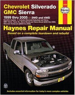 Chevrolet silverado 1500 repair manual 1999-2011.