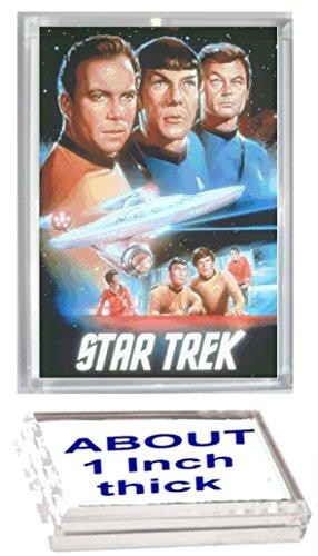 Star Trek TOS cast Kirk Spock Bones Acrylic Executive Display Piece or Desk Top Paperweight