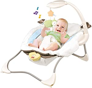 Airpow Baby Swing | Portable Baby Cradle 'n Swing Deluxe Soothe 'n Play Glider, Compact Baby Rocker Swing Chair with Music | with Smooth Fabric and 8 Soothing Songs (B, US Stock)