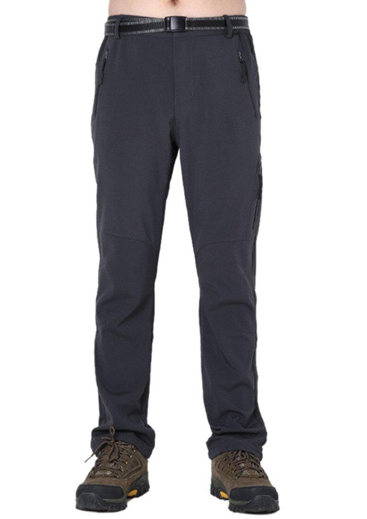 Geval Men's Windproof Softshell Fleece Snow Pants Outdoor Hiking pants HWZF1509mens