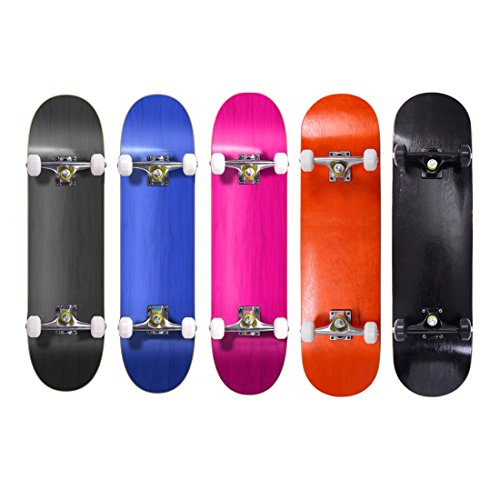 31 Inch Complete Skateboard Pre-assembled Double Kick Cruiser