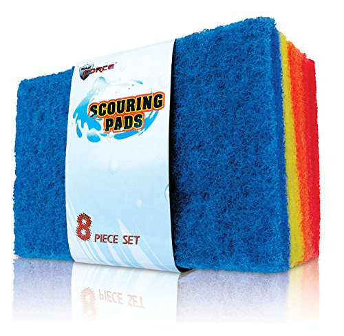 Diamond Visions Scouring Pads 3.75'' X 5.75'' Assorted Colors Carded 8 / Pack