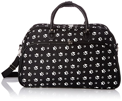 - World Traveler 21-Inch Carry-On Shoulder Tote Duffel Bag, Black White Paws, One Size