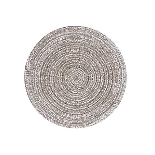 - Gotian 1 Pc Round Circle Placemats Table Cotton Linen Place Heat-Insulated Non-Slip Mats Heat Kitchen Dinner Table Heat Pads Suitable for Kitchen Party Feast (Coffee)