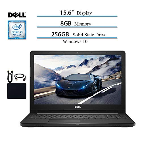 - Dell Inspiron 15.6 HD Touchscreen 2019 Newest Laptop Notebook Computer, Intel Core i3-7130U 2.7GHZ, 8GB RAM, 256GB SSD, Bluetooth, Webcam, HDMI, Wi-Fi, MaxxAudio, Win 10 w/ HESVAP Accessories