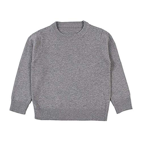 KIMJUN Toddler Baby Pullover Sweater Girl Boy Cable Knit Sweaters Kid Sweatshirt Grey 12-18M