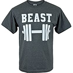 Gray Gym Beast Mens T Shirt S