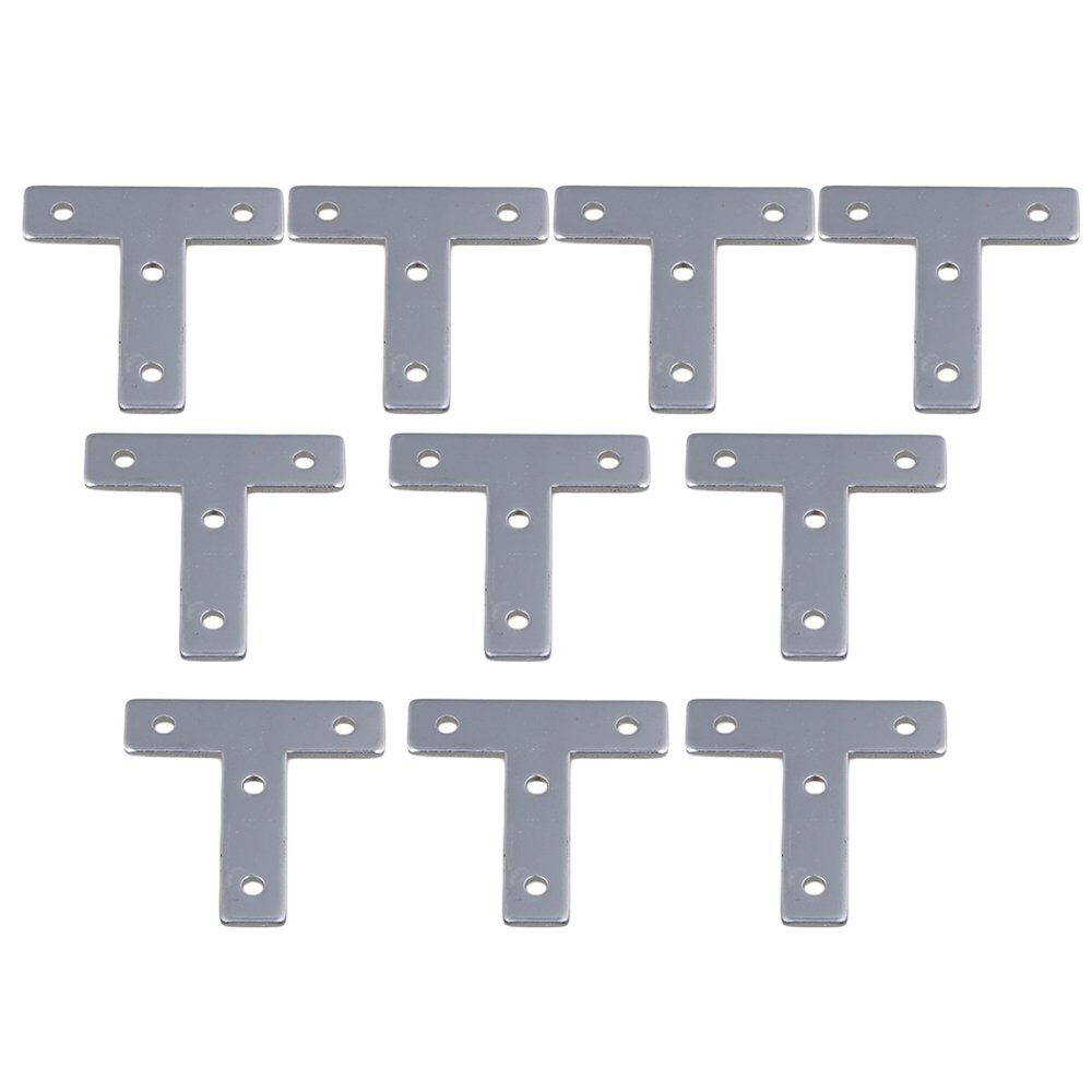 Mxfans 10 Pieces 2020 T-Type European 20 Standard Outer Aluminum Connect Plate