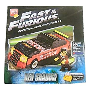 Fast and Furious Build Your Own Vehicle ~ Red Shadow (108 Pieces; Official Movie Merchandise)