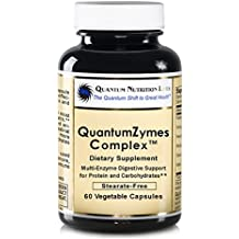 QuantumZymes Complex, Vegan Product, 60 Capsules - Multi-Enzyme Formula for Quantum Digestive Support for Protein and Carbohydrates