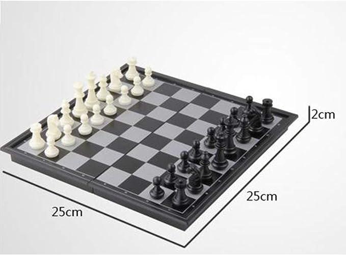 FairOnly - Juego de Mesa de ajedrez magnético portátil, Schach, pequeño: Amazon.es: Hogar