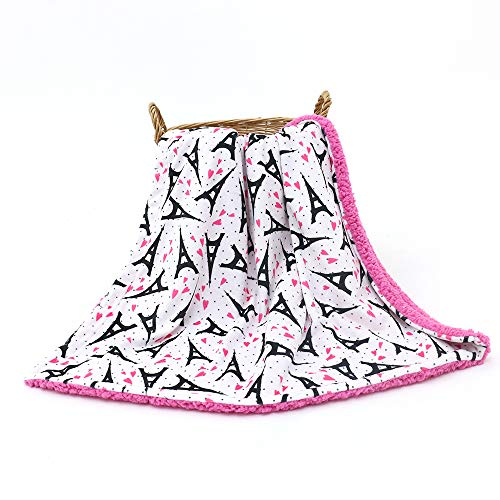 (Teeny Giggles Eiffel Tower Paris Baby Blanket - Hot Pink &)