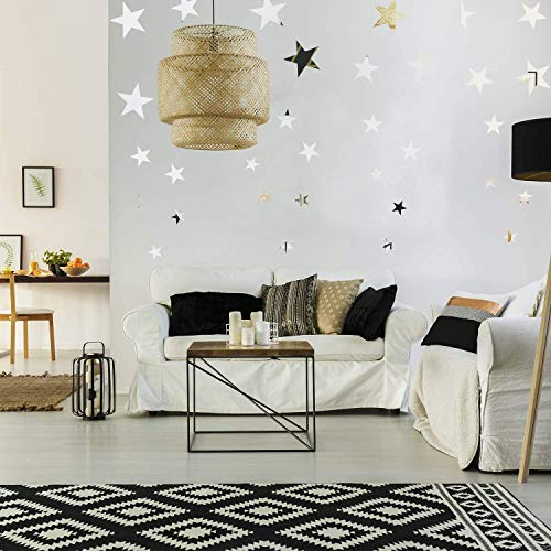 32 Pieces Removable Star Mirror Stickers Acrylic Mirror Setting Wall Sticker Decal for Home Living Room Bedroom Decor… 7