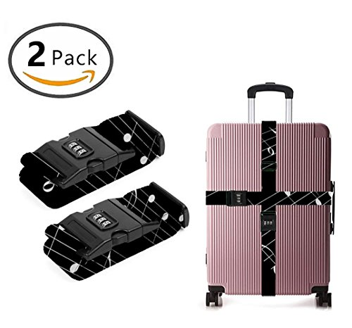 Delsey Black Camera Bag - YEAHSPACE Black And White Piano Key 2 Pack Luggage Straps Suitcase Adjustable Belt Travel Bag Accessories