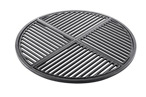 Seasoned Kettle - Cast Iron Grate, Pre Seasoned, Non Stick Cooking Surface, Modular  Fits 22.5