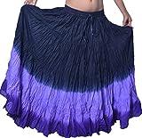 Wevez Women's Belly Dance Cotton 12 Yard Skirt (BLP)