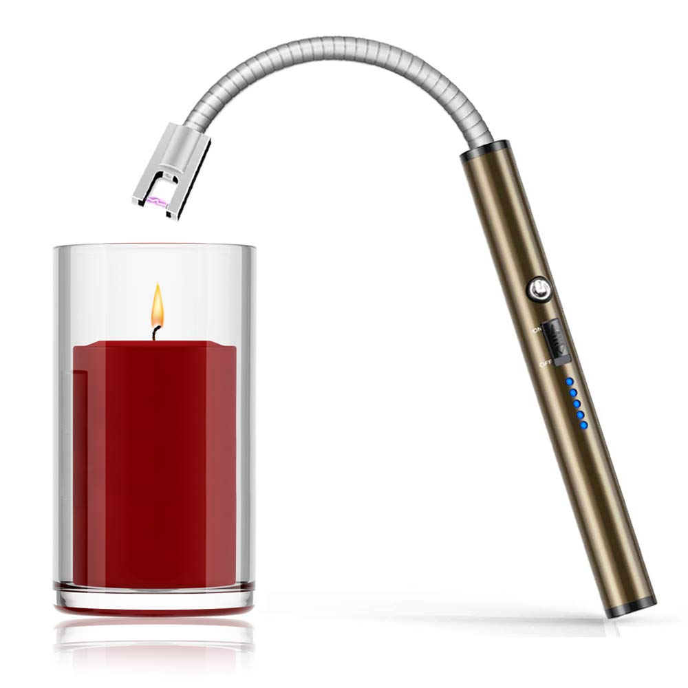 Boncas Flexible Arc Lighter USB Candle Lighter Plasma Lighter Rechargeable Windproof Lighter Long for Household Camping Cooking BBQ (Candle not Included) by Boncas (Image #1)