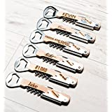 Groomsman Gift Corkscrew Wine Beer Bottle Opener Personalized Engraved Part Favor Bridesmaid For Guests Bridal Bulk Free Shipping