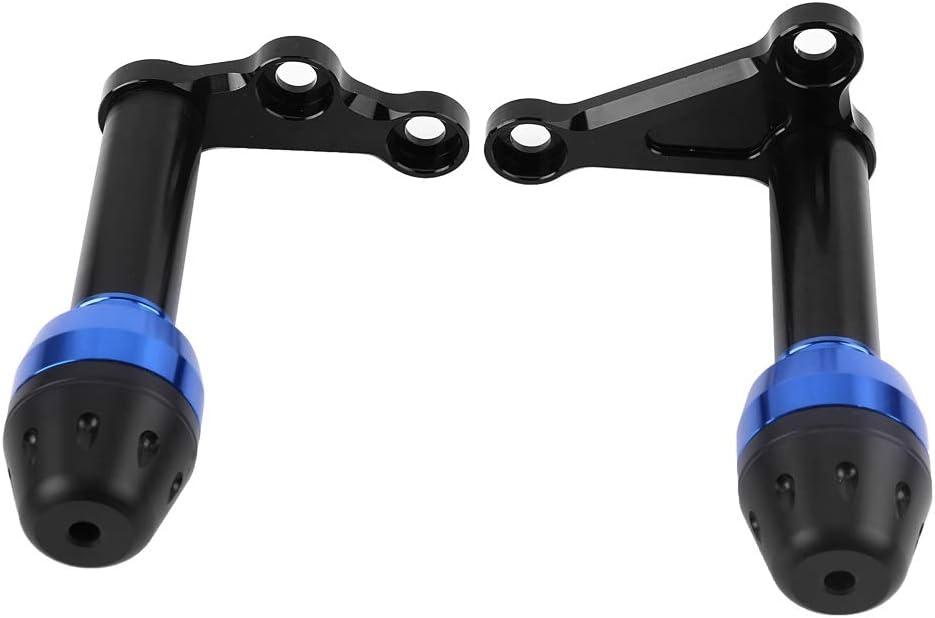 blue Qiilu CNC Aluminum Alloy Frame Crash Slider Protector for Yamaha YZF R3 R25 2014-2016