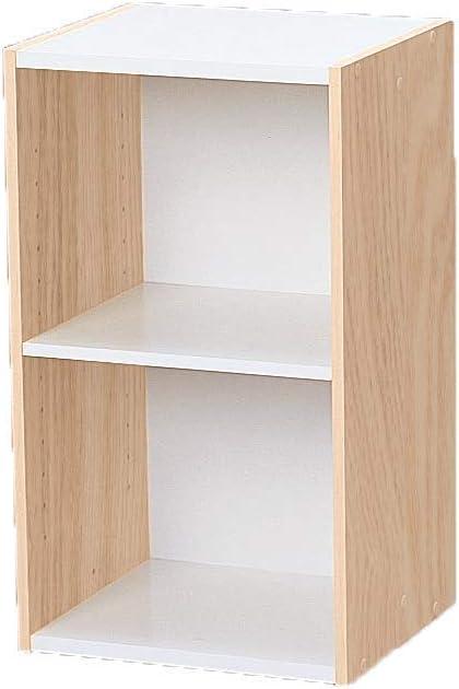 Marca Amazon - Movian Librería modular con 2 estantes en MDF, Beige, 35 x 29 x 60 cm
