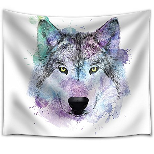 Fun and Colorful Splattered Watercolor Wolf