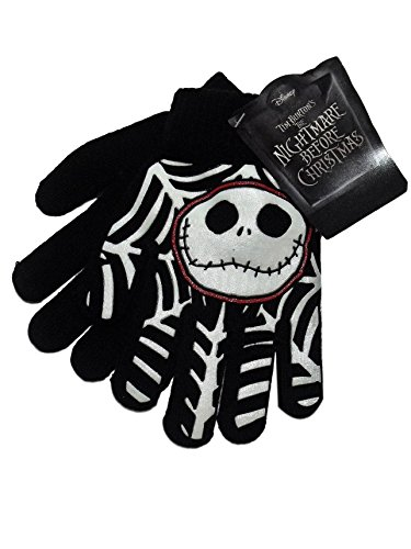 Nightmare Before Christmas Jack Skellington Black Knit Boys Winter (Nightmare Before Christmas Gloves)