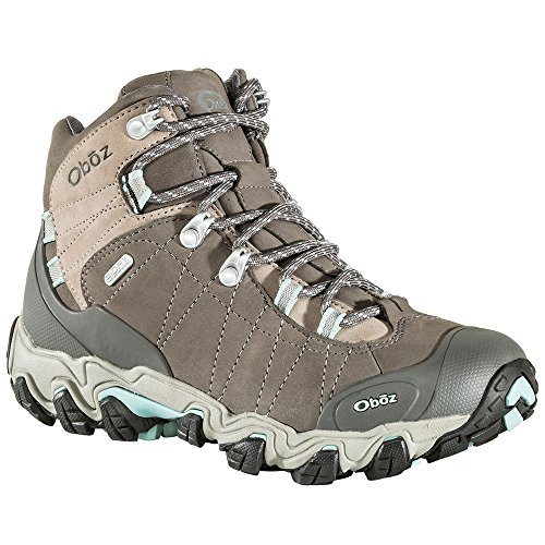 Oboz Women's Bridger Mid BDry Waterproof Hiking Boots, Cool Grey Black 8.5