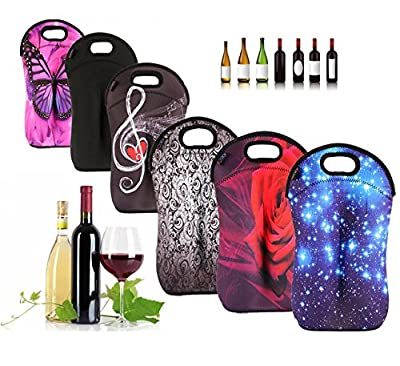 iColor insulated Wine bag tote Holder Covers for Champagne,Wine,Beer Bottles,Beverages,Containers,Soft Drinks,Sodas,Sports Water Bottles,Baby Bottles,Make of thick Neoprene,Zipper Closure,Machine-Washable