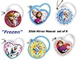 Disney ''Frozen'' Slide Mirror Mascot Set of 6 Capsule Toy