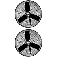 Air King 24 1/4 HP High 3-Speed Industrial Oscillating Wall Mount Fan (2 Pack)
