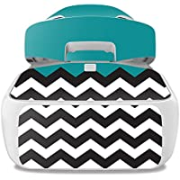 Skin For DJI Goggles – Teal Chevron | MightySkins Protective, Durable, and Unique Vinyl Decal wrap cover | Easy To Apply, Remove, and Change Styles | Made in the USA