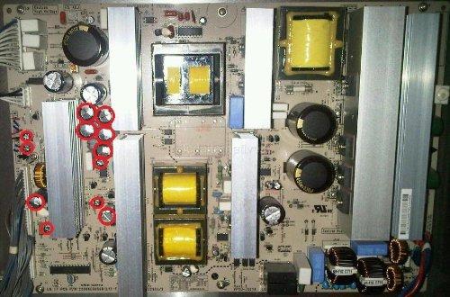 LCDalternatives Repair Kit, LG 50PC5D, Plasma TV, Capacitors Only, Not The Entire Board.
