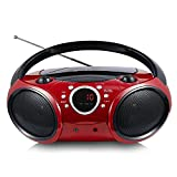 SINGING WOOD 030B Portable CD Player Boombox with