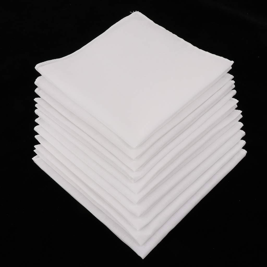 chiwanji 10er Pack 100/% Baumwolle Taschent/ücher DIY Stofftaschent/ücher Herrentaschent/ücher Damentaschent/ücher zum Bemalen Wei/ß