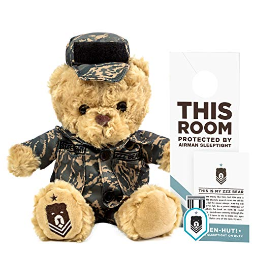 ZZZ Bears Airman Sleeptight Air Force Teddy Bear - Military Plush Toy, Four Step Sleep System to Help with Bedtime (Air Force Uniform)