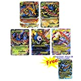 EX Mega Pack Charizard Lucario Heracross Ampharos Absol with 10 EX and Free Charizard Mega EX Plastic Card