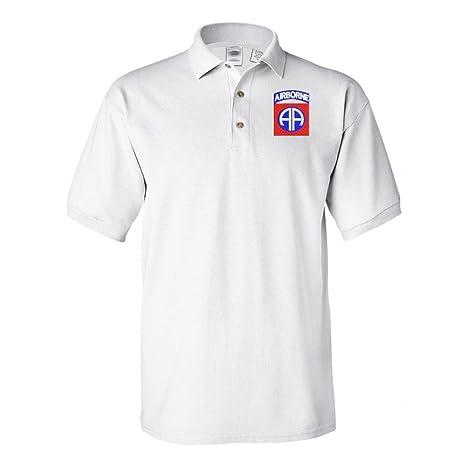Amazon.com  Military 82nd Airborne Polo Shirt White  Sports   Outdoors c349c59f1