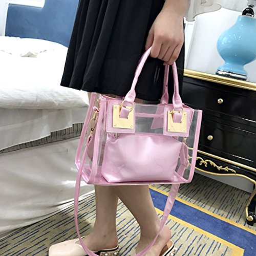 Ladies Bag Shoulder Pink Crossbody Handbag 2x Transparent Messenger Candy Tote Kofun Gold xT7qnFYw44