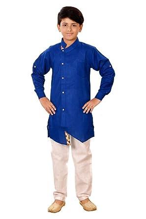 0acf979a6 Fourfolds Ethnic Wear Kurta Pyjama Set for Kids and Boys_259: Amazon ...