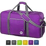 WANDF 36' Foldable Duffle Bag 120L for Travel Gym Sports Lightweight Luggage Duffel 36 inches (120 Liter), Purple 36'